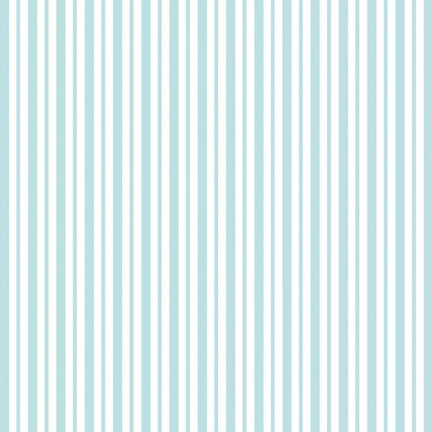 KimberBell Basics: Mini Awning Stripe - Aqua/White
