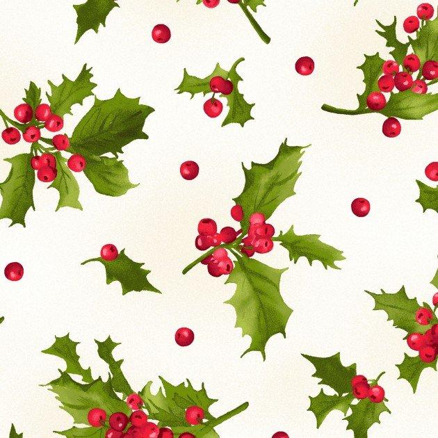 Pionsettia & Pine Holly and Berries MAS9123-E