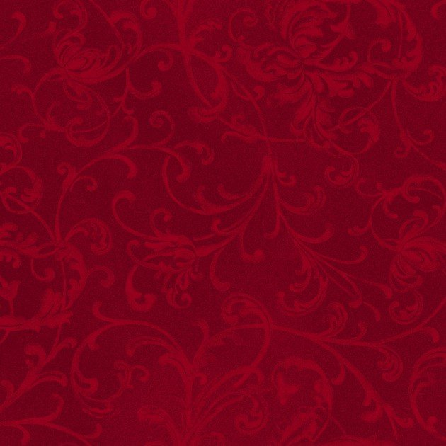 Elegant Scrolls Poinsettia & Pine Dark Red