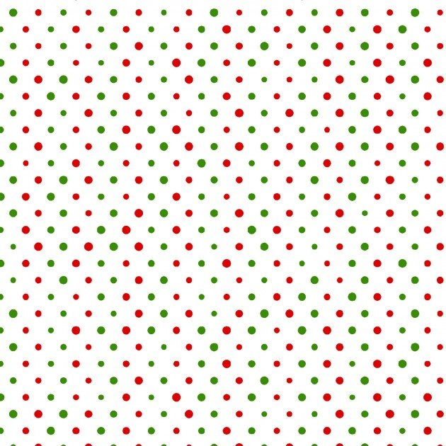 All the Trimmings Dots Red/Green on Wht