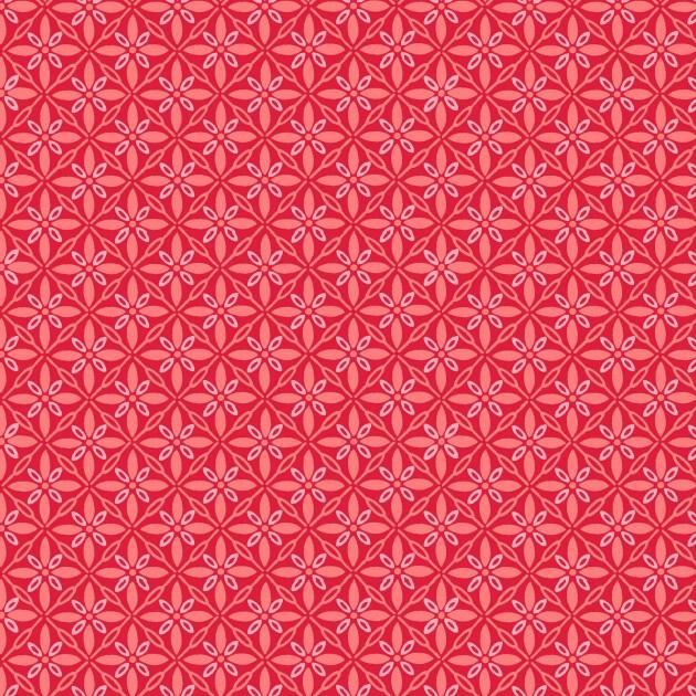 KimberBell Basics: Tufted Star - Red