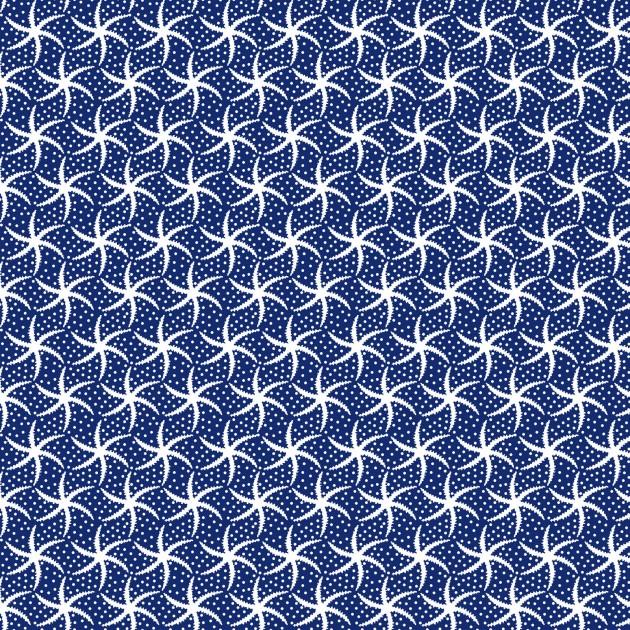 Mini Starfish Fabric - Navy Turtle Bay Collection from Maywood Studio