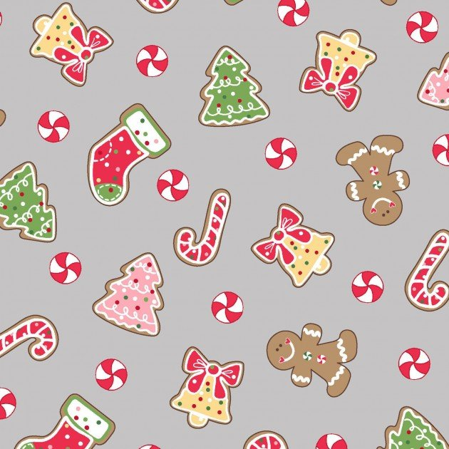 We Whisk You a Merry Christmas!- Christmas Cookies Gray