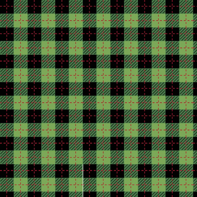 Black and Green Buffalo Plaid
