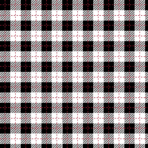 Kimberbell Buffalo Plaid MAS9673-JUW Black/Ultra White