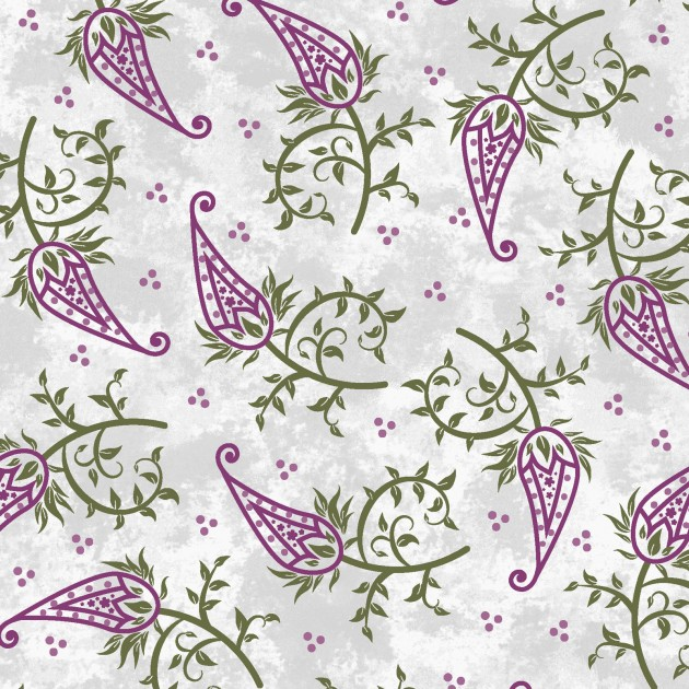 AMOUR PAISLEY STEMS GREY