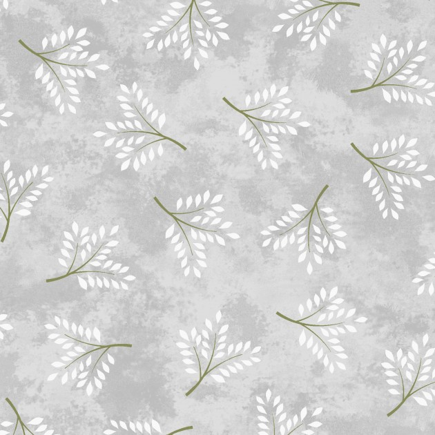 AMOUR TOSSED SPRIGS GREY