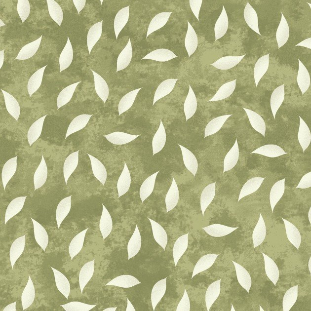 AMOUR SCATTERED LEAVES OLIVE