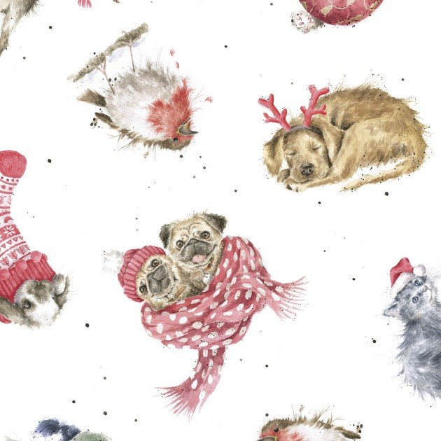 Warm Wishes - Tossed Animals - by Hannah Dale for Maywood Studio