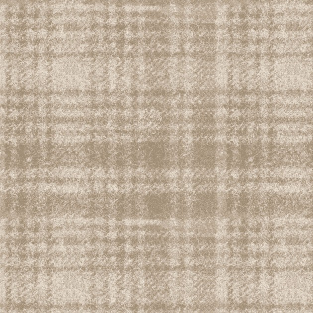 Woolies Flannel - Windowpane - Light Tan