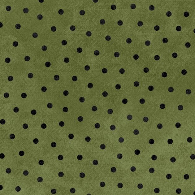 Woolies Flannel - Green Polka-dots