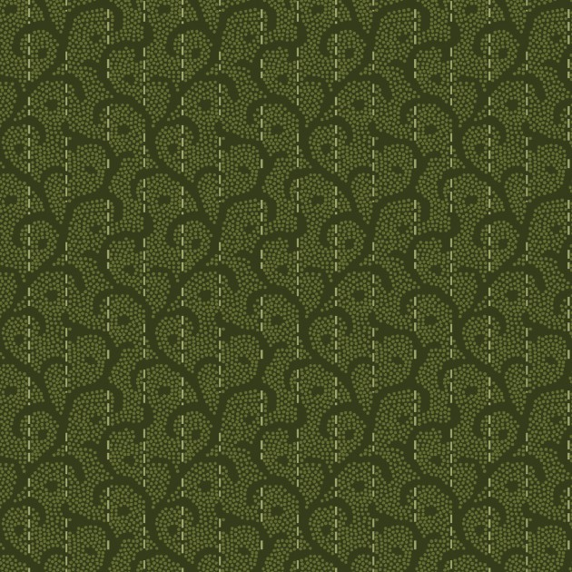 Heritage Woolies Flannel - Stitched Scroll