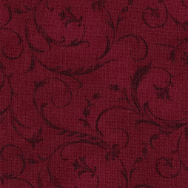 Beautiful Backing Red Floral Vines MASQB100 R3