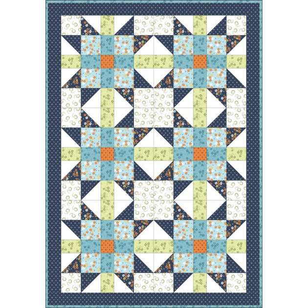 Sister's Choice Quilt Pod - 32in x 46in - Carnaby Street