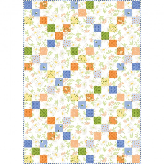Irish Chain Quilt Pod - 30in. x 42in. - Fresh as a Daisy
