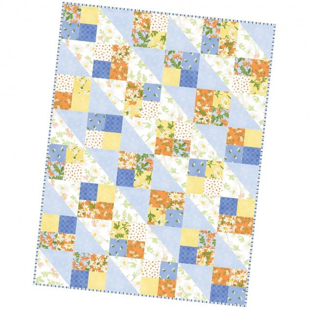 Four Square Quilt Pod - 36in. x 48in. - Fresh as a Daisy