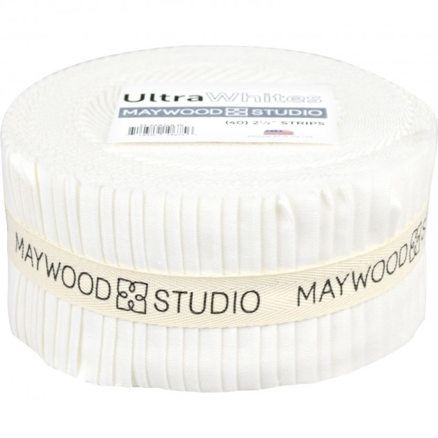 Ultra White 2.5 Strips (40pcs) Solitaire Whites by Maywood Studio