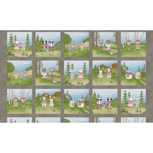 Forest Friend Squares Panel