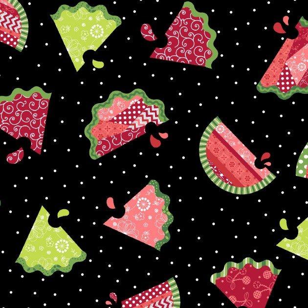 Kimberbell MAS8251-J  Watermelon Patch Black