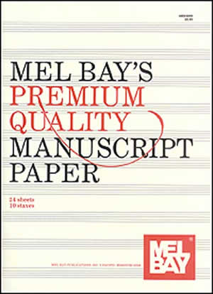 MEL BAY PREMIUM QUALITY MANUSCRIPT PAPER 10 ST 24 PG (93899 ) (Manuscript )
