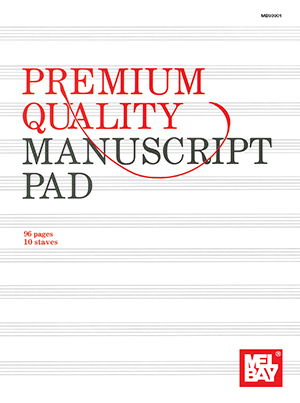 MEL BAY PREMIUM QUALITY MANUSCRIPT PAD 10 ST 96 PG (93901 ) (Manuscript )