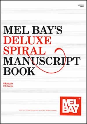 MEL BAY DELUXE SPIRAL MANUSCRIPT BOOK 10 ST 64 PG (93962 ) (Manuscript )