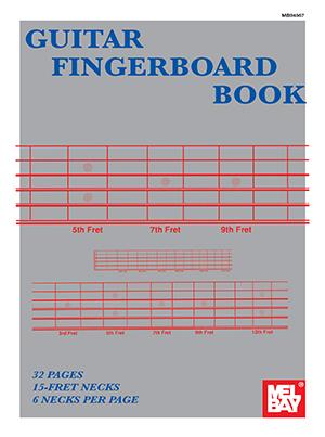 GUITAR FINGERBOARD BOOK 6 NECKS PER PAGE 32 PG