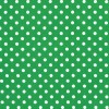 Dumb Dots - Med White Polka Dots on Green
