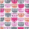 CX7377 PINK D   SASSY CATS  BY MICHAEL MILLER FABRICS