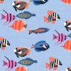 MM- Fishtopia Blue W/Multcolor Fish