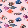 MM- Fishtopia Pink w/Multicolor Fish