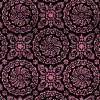 Floral medallionBlack bkgd pink design