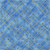 Guilded Plaid With Metallic Blue