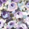 Regal Roses On Minky Purple