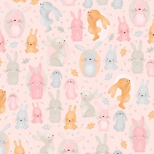 Comfy Flannels Bunnies Pink 0908-22