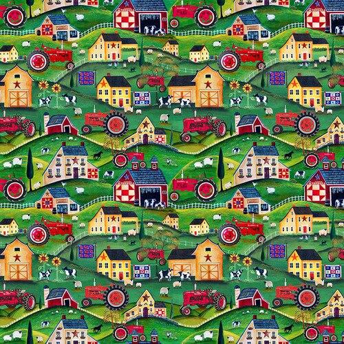 Farmall Folk Art #10203F- Scenic Allover