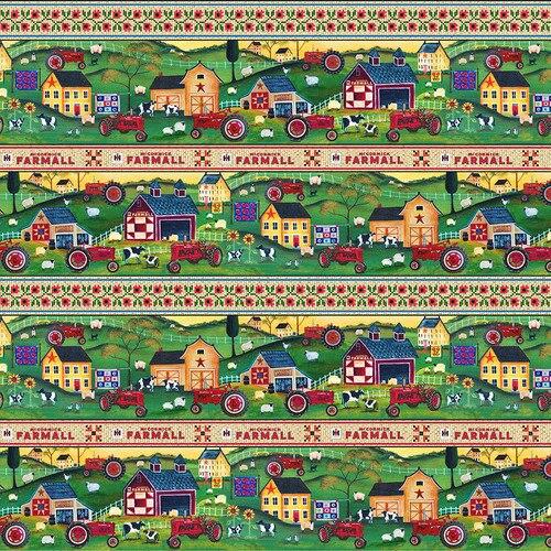 Farmall Folk Art #10204F- Scenic Border Stripe
