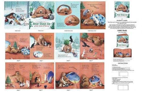Bears Stay Up For Christmas - Book Panel