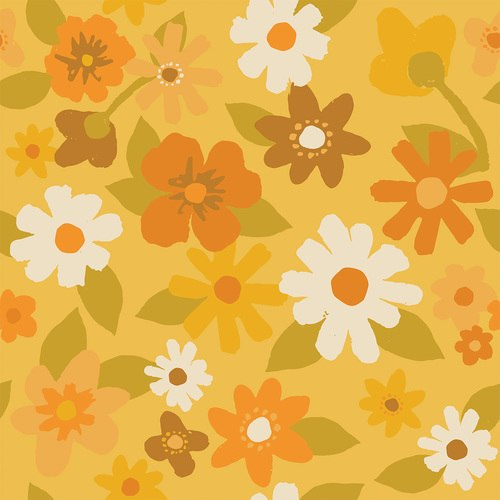 Flower Market 120/209003 Paint Brush Studio 100% Cotton Quilting Weight Fabric