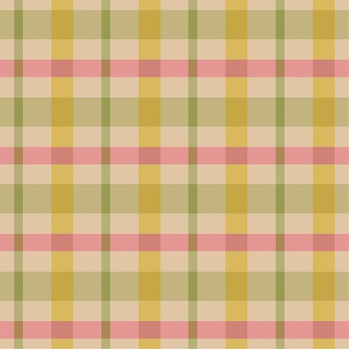 Flower Market Plaid Olive/Multi
