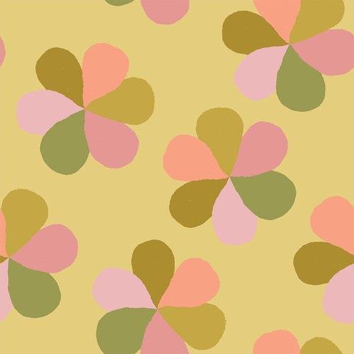 Flower Market  Mod Floral Olive