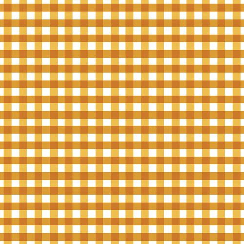 Flower Market  Gingham Orange