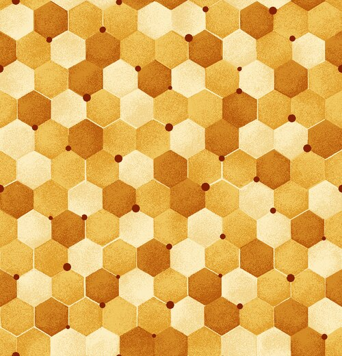 Paintbrush Studio Bee Kind Tonal Honeycomb Yellow Cotton Fabric