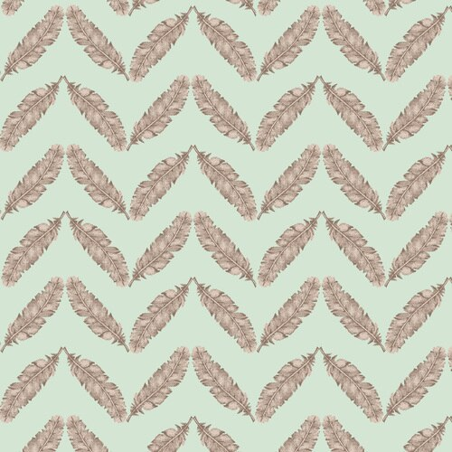 1394 11 Fresh & Fab Feathered Herringbone Aqua by Kim Diahl for Henry Glass & Co. 100% cotton 43 wide