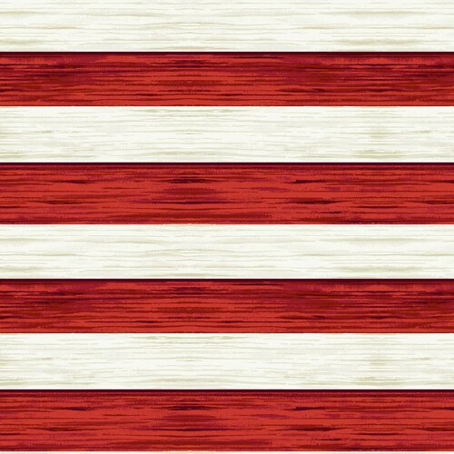 America The Beautiful Stripes Red Off White