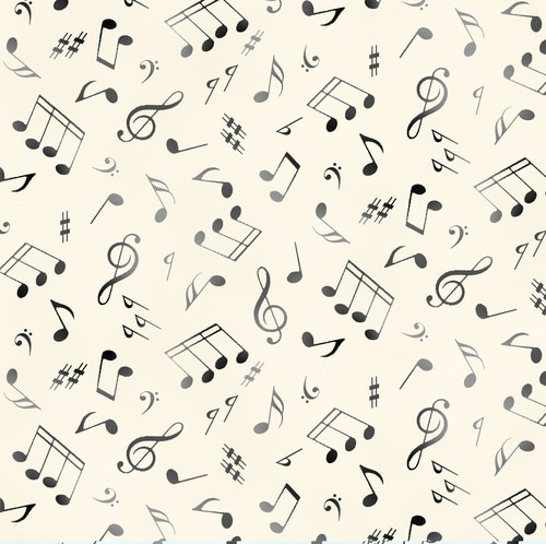 Jazz Musical Notes Cream