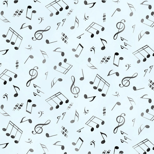 Jazz Musical Notes Soft Blue