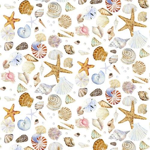 Coastal Paradise 1505-14 White Shells