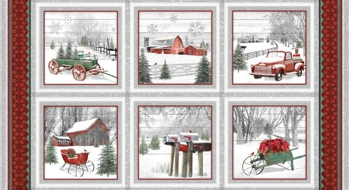 Holiday Homestead Block Panel 1612/89
