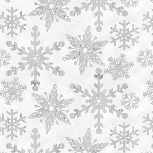 Holiday Homestead 1617-90 Snowflake White/Gray